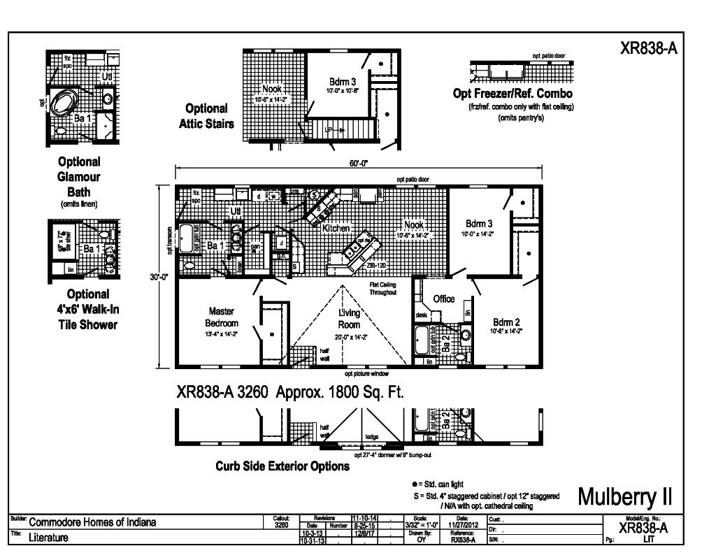 Grandville LE Ranch - Mulberry II - XR838A | Find a Home | Commodore on commodore mobile home pricing, single wide homes floor plans, modular home floor plans,