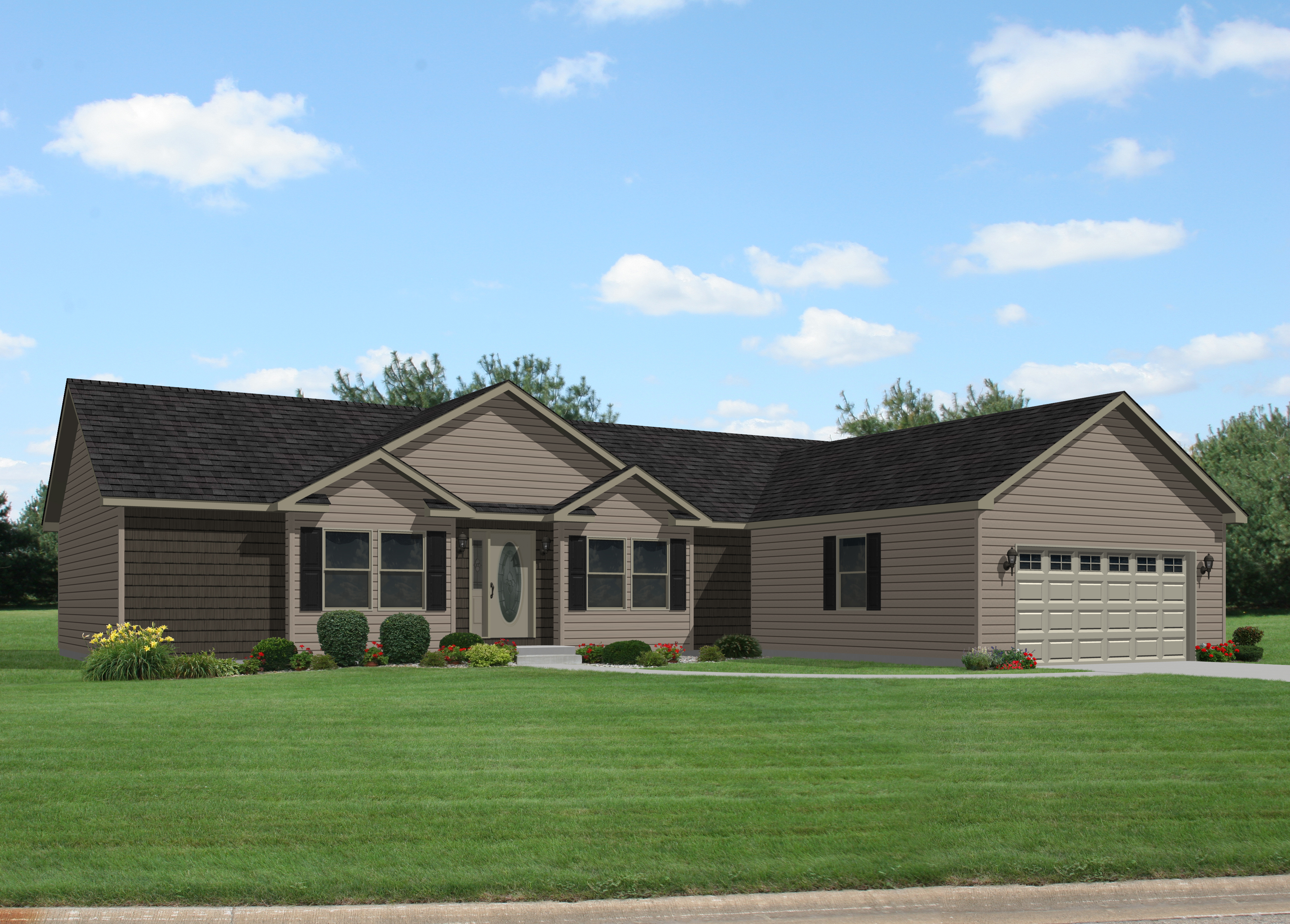 Grandville Le Modular Ranch Oakdale Iii Rg749a Find A Home Commodore Of Indiana