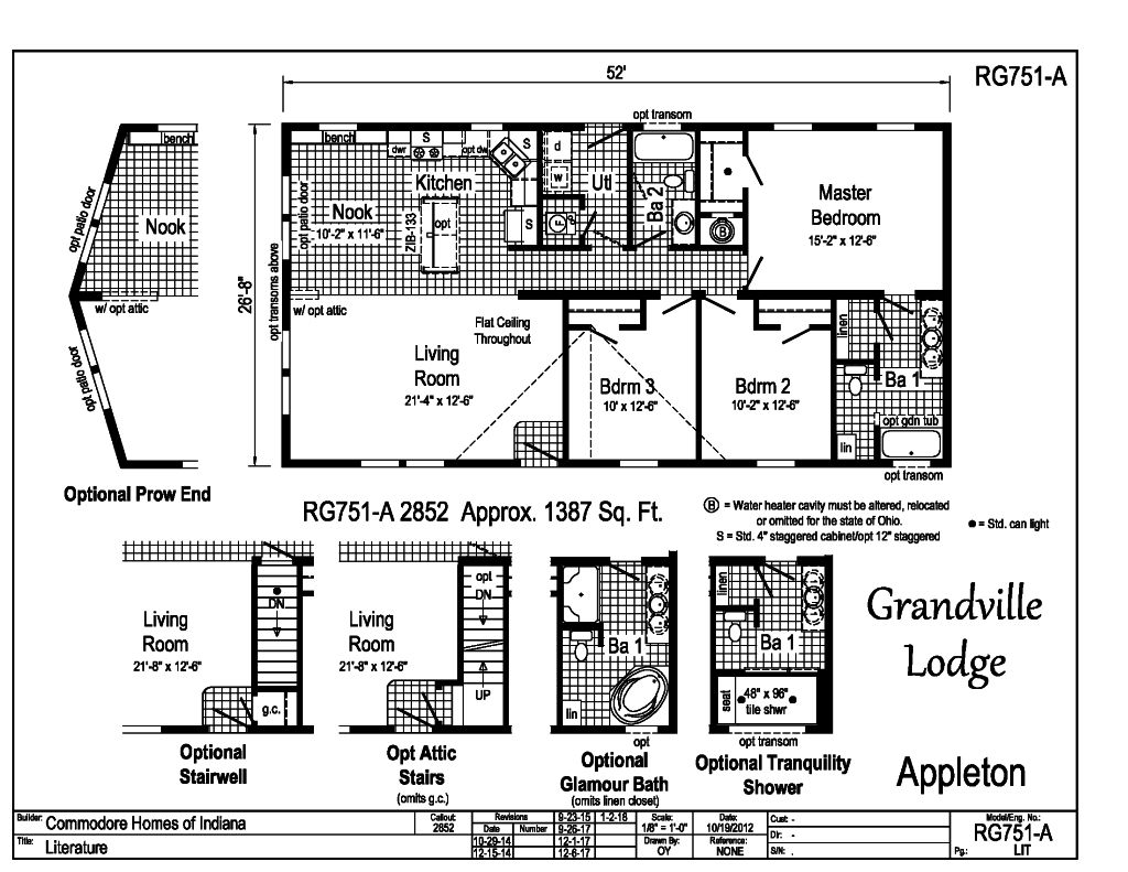 Grandville le modular ranch appleton rg751a find a for Indianapolis home builders floor plans