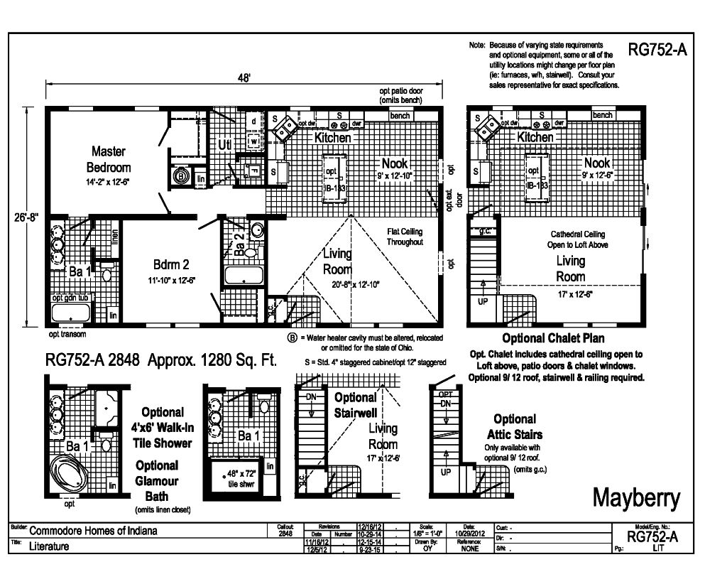 Grandville le modular ranch mayberry rg752a find a for Indianapolis home builders floor plans