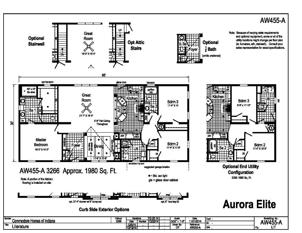 Standing Closet Crossword Part - 16: Aurora Classic Ranch Modular - Aurora Elite - AW455A | Find a Home |  Commodore of Indiana