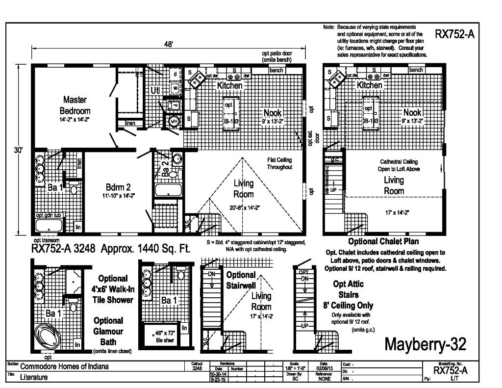 Grandville le modular ranch mayberry 32 rx752a for Indianapolis home builders floor plans
