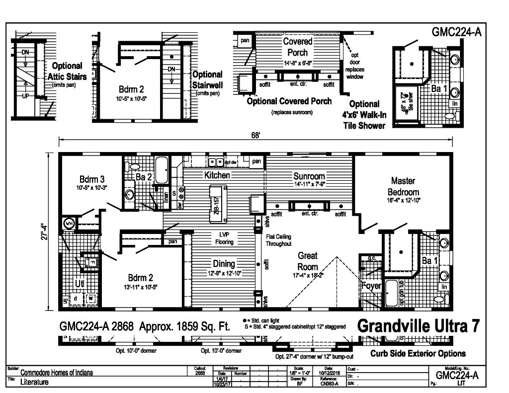 Grandville LE Modular Ranch - Ultra 7 - GMC224A | Find a ... on mobile homes with extensions, mobile homes with concrete, mobile home decks, mobile homes with awnings, log home porches, mobile homes patios, mobile home with wrap around porch, mobile homes with sunrooms, mobile homes with stairs, mobile homes with landscaping, mobile homes with basements, mobile homes with stone skirting, double wide mobile home porches, mobile homes with drywall, mobile homes with fences, mobile homes with ramps, mobile homes with replacement windows, mobile homes with yards, mobile homes with garages, mobile home enclosed porch ideas,